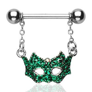 Mardi Gras Mask Nipple Ring