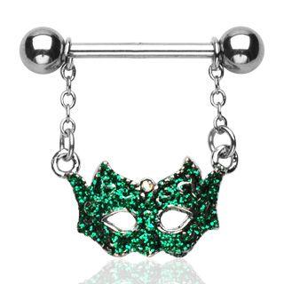 Mardi Gras Mask Nipple Ring