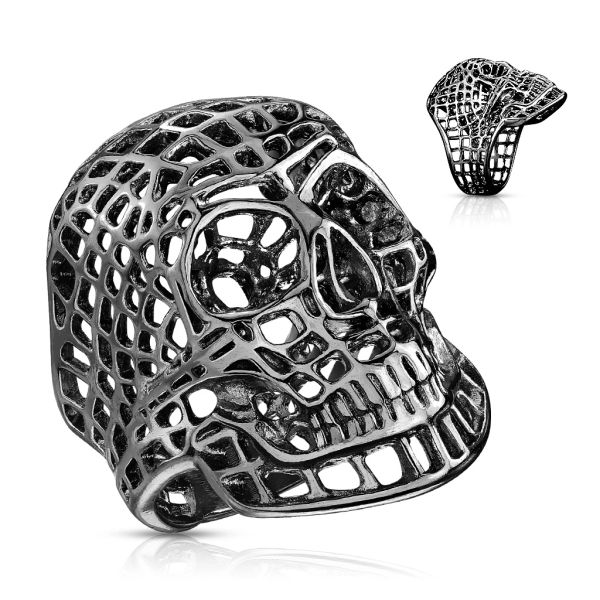 Black Matrix Skull Ring