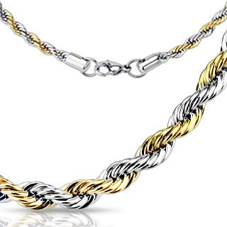 2MM Two Tone Rope Chain