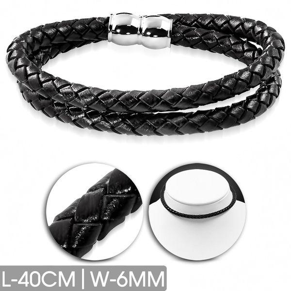 Black Leather Choker-Bracelet