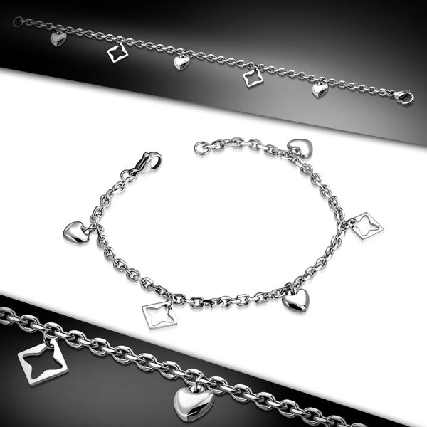 Square Heart Bracelet