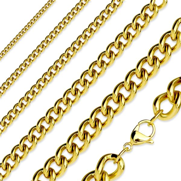 Gold IP Plated Curb Chain