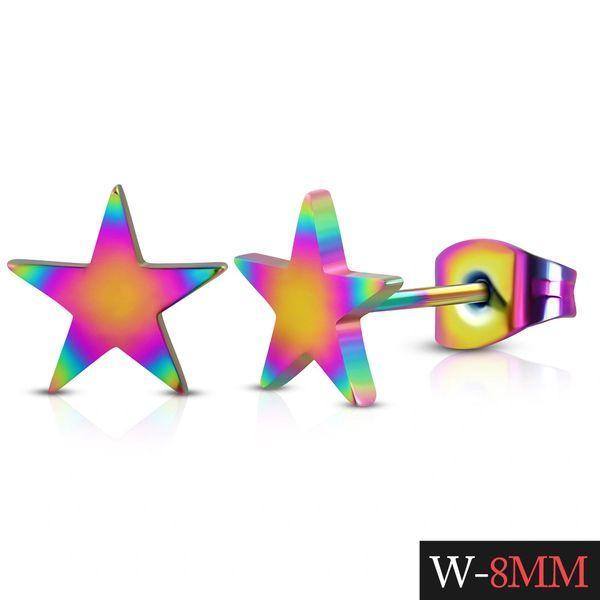 Anodized Star Studs
