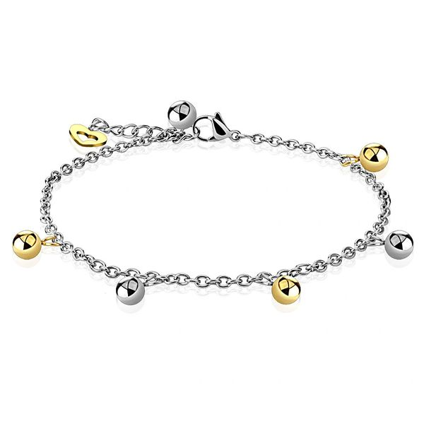 Two Toned Ball Anklet