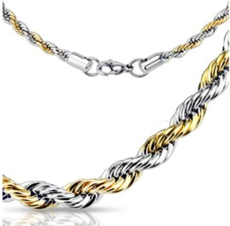 6MM Two Tone Rope Chain