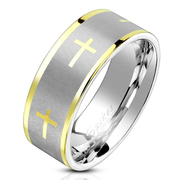 Gold and Stainless Cross