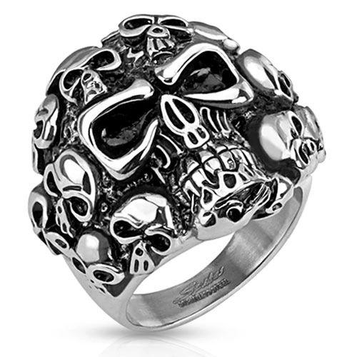 Multi Stacked Skull Ring