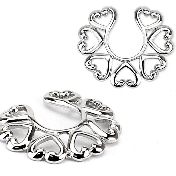 7 Heart Nipple Ring