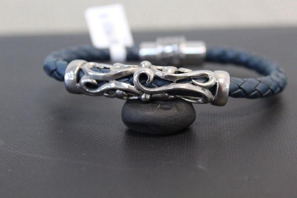 Blue Leather w/ Steel