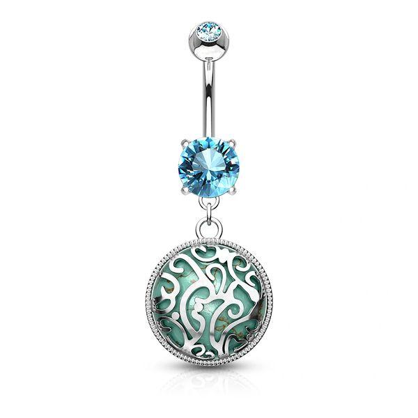 Swirl W/ Synthetic Turquoise