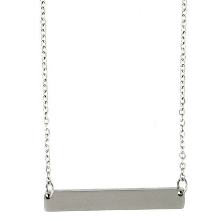 Stainless Bar Necklace with Chain