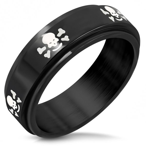 Black Band W/ Skull and Cross bones