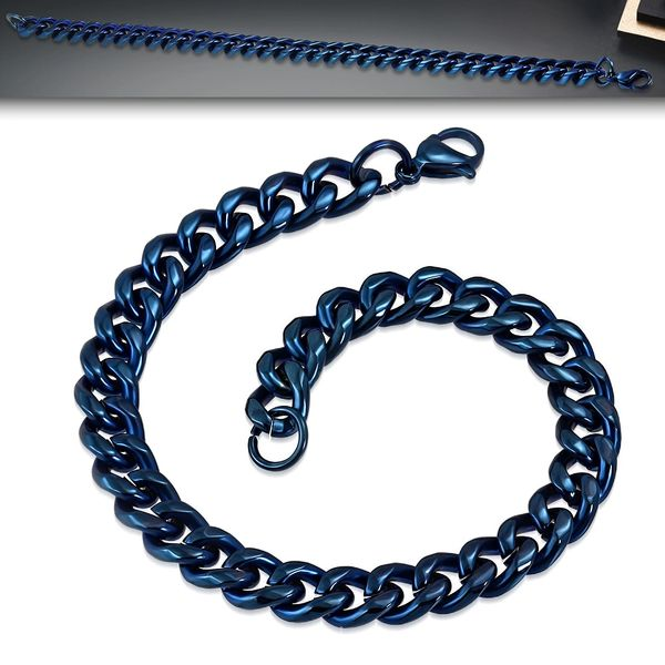 "8MM 8.5"" Blue Curb Link"