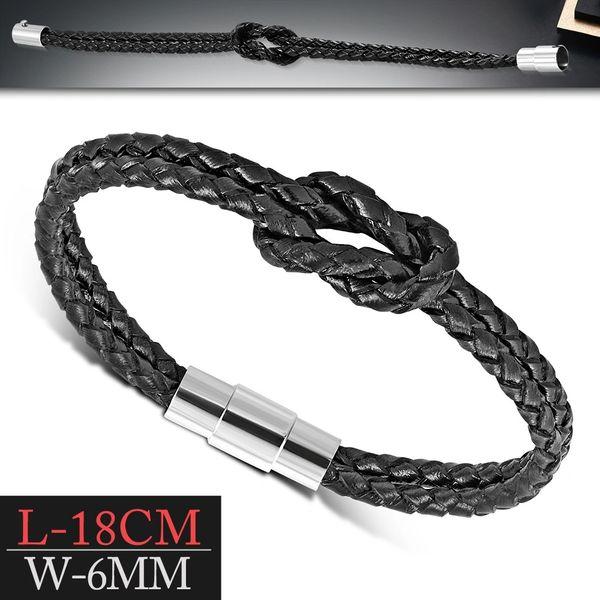 Black Knott Double Leather