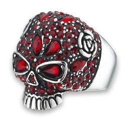 Rose DeLa Rose Skull Ring