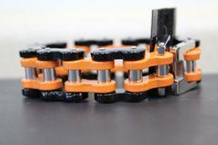 Large Burnt Orange and Black Bike Chain
