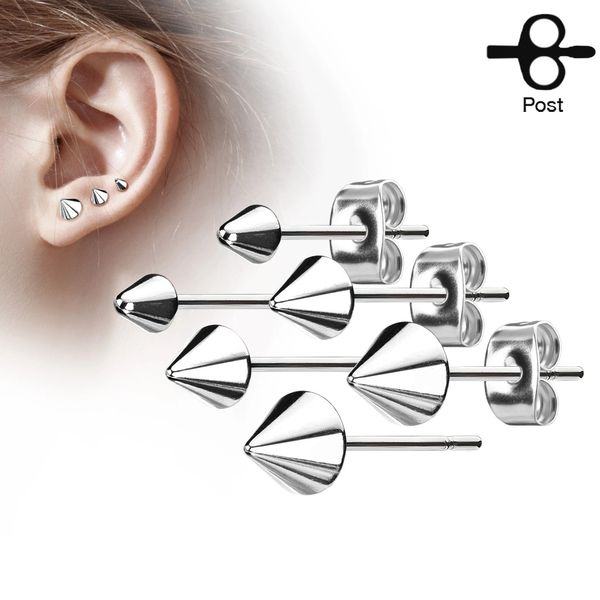 4mm Stainless Steel Spike Stud Earring