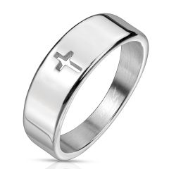 Plain Cross Cut Out Ring