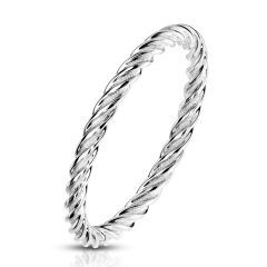 Twisted Stackable Band Ring