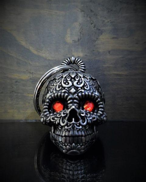 Sunflower Sugar Skull W/ Eyes 3D