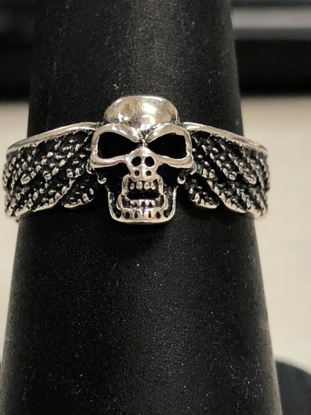 Silver Skull with Wing