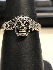 Small Silver Sugar Skull