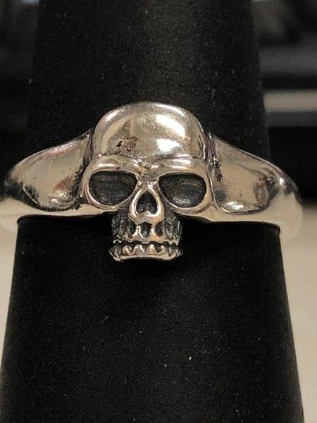 Small Silver Plain Skull