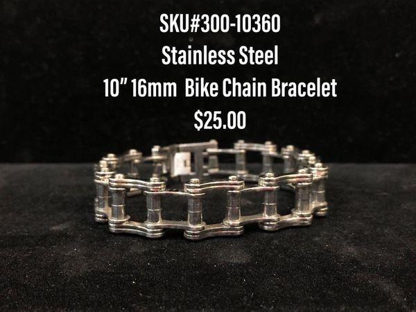 "10"" 16mm Stainless Bike chain"