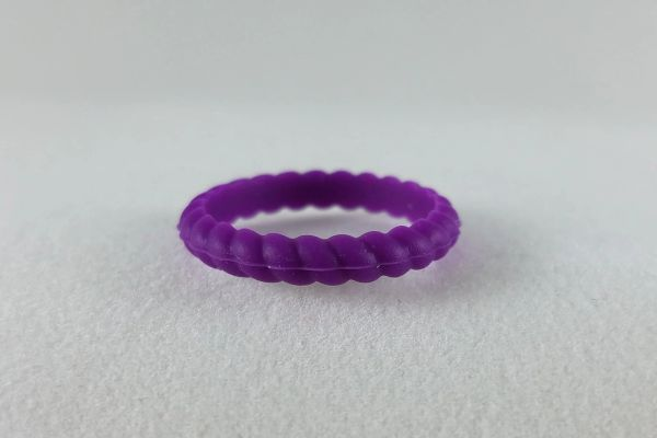PURPLE ROPE STACKABLE Silicone ring