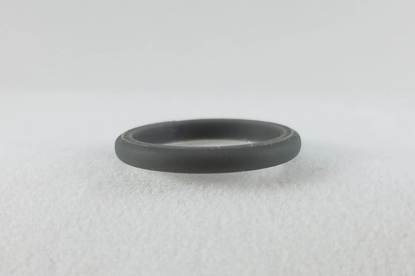 Plain Gray Stackable Silicone Ring