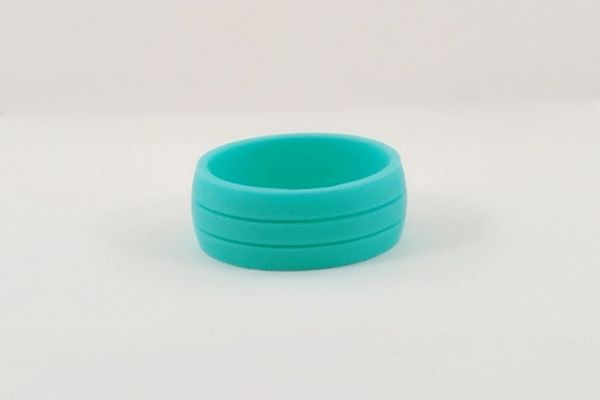 Teal Comfort Fit Silicone Ring