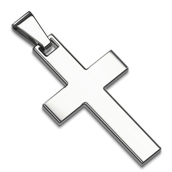 SIMPLE CROSS STAINLESS STEEL