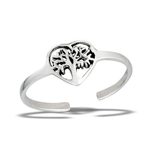 HEART TREE OF LIFE TOE RING