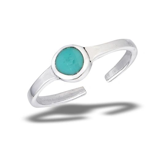 Synthetic Turquoise TOE RING