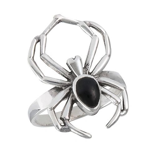 SPIDER WITH SYNTHETIC BLACK ONYX