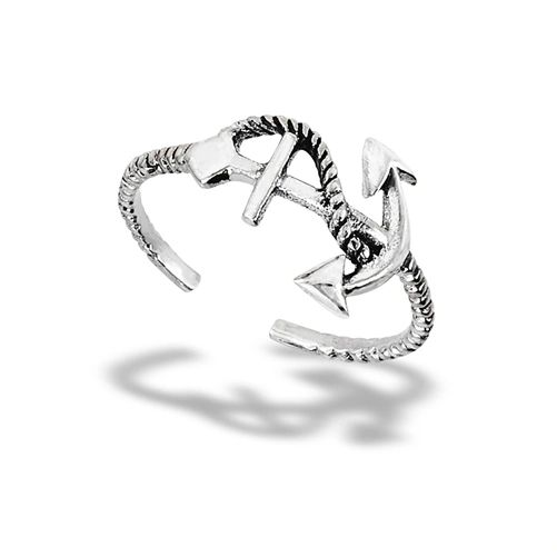 ANCHOR WITH LINE TOE RING
