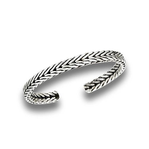 DOUBLE WEAVE TOE RING