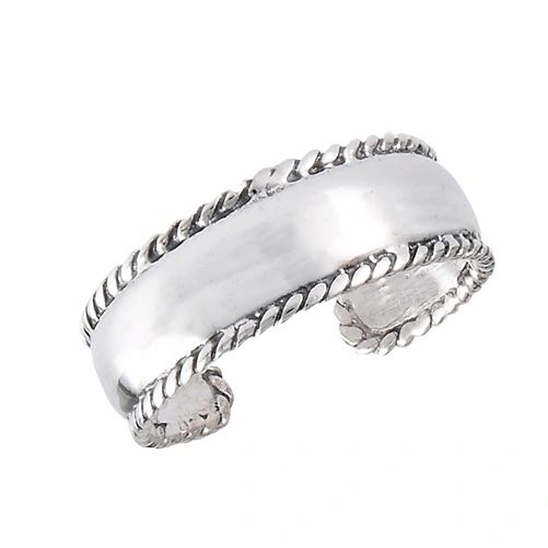 MILGRAIN BAND TOE RING