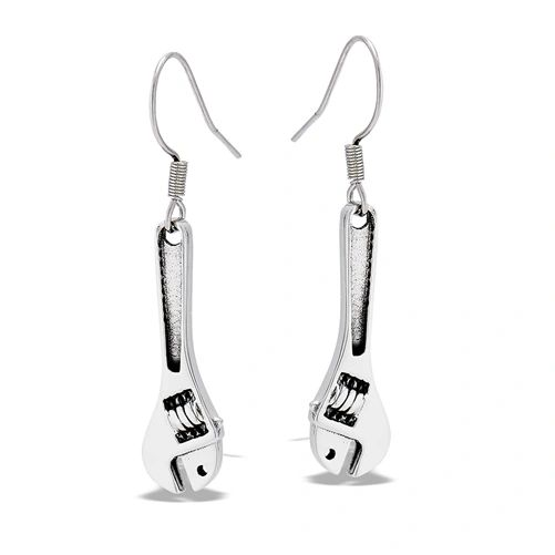 Stainless Steel Wrench Earrings