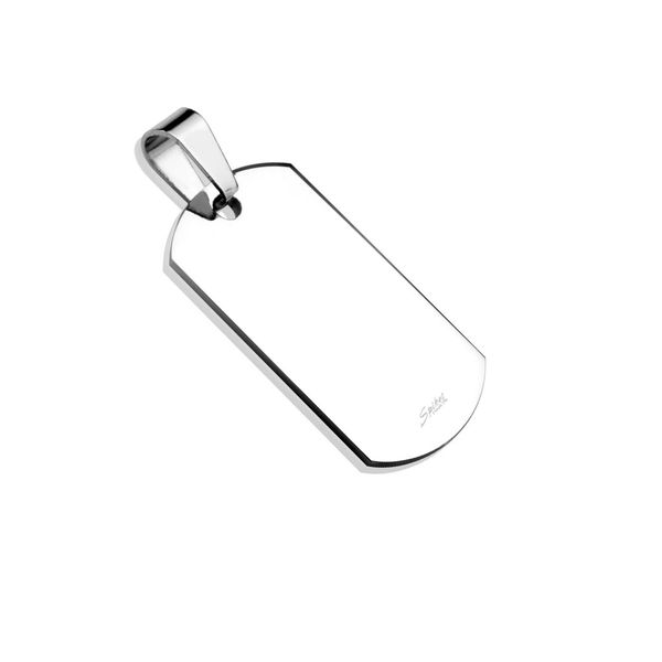 Small Plain Dog Tag