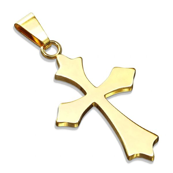 Celtic Cross Stainless Steel Gold Plated