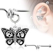 DEATH HEAD MOTH NAVEL RING