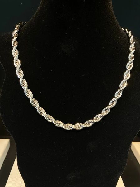 """7mm Rope Chain 30"""""""