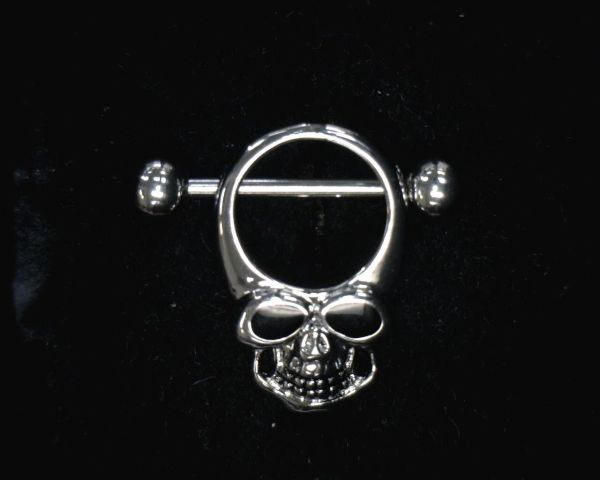 14GA 5/85MM SKULL W/ ENAMEL EYES