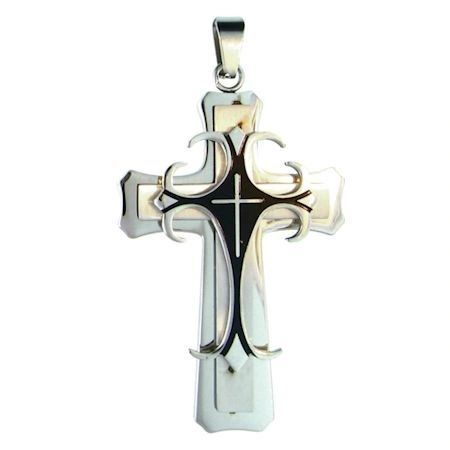 LARGE 2 TONE 2 LAYER CROSS