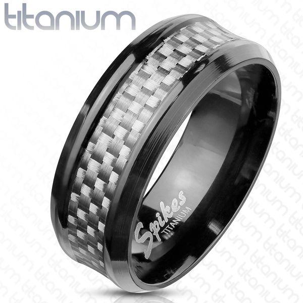 Titanium White Carbon Fiber Ring
