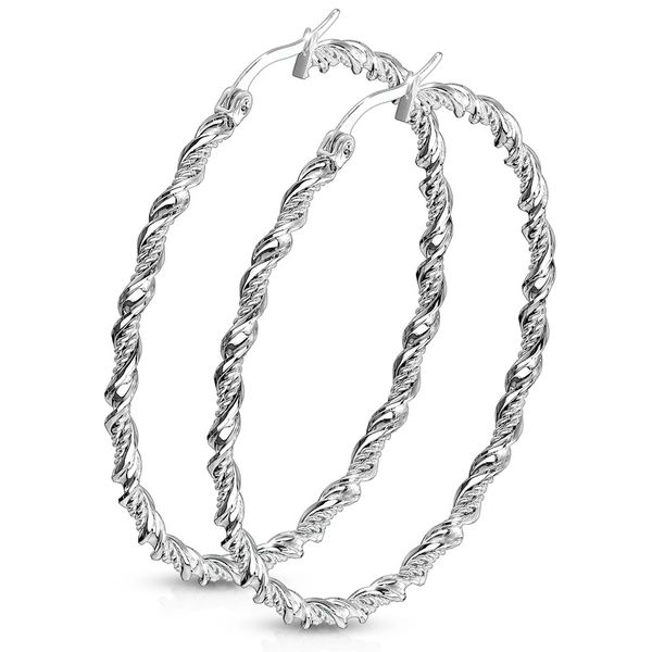 STAINLESS STEEL BRAIDED TWISTED HOOPS