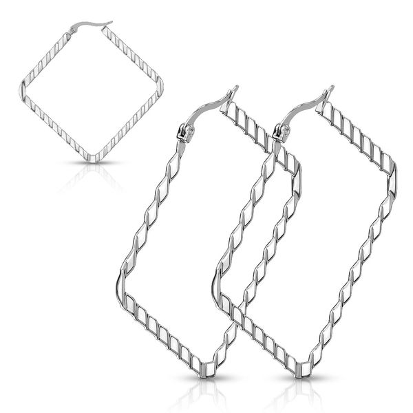 SQUARE WAVE PATTERN STAINLESS STEEL