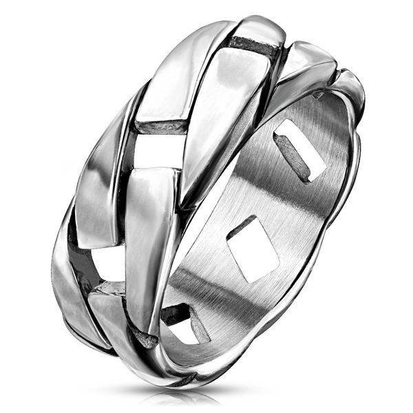 LINK CHAIN RING STAINLESS STEEL